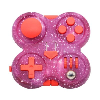 3inch Starry Pink Hand Spinner Press Fidget Set Decompression Novelty Pad with Rubber Button Press Board 1 - Fidget Pad