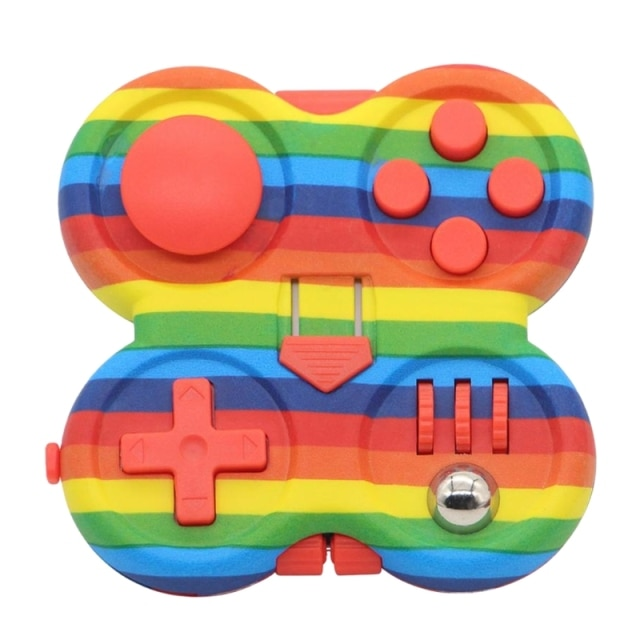 3inch Starry Pink Hand Spinner Press Fidget Set Decompression Novelty Pad with Rubber Button Press Board 1.jpg 640x640 1 - Fidget Pad