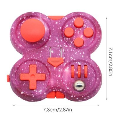 3inch Starry Pink Hand Spinner Press Fidget Set Decompression Novelty Pad with Rubber Button Press Board 5 - Fidget Pad