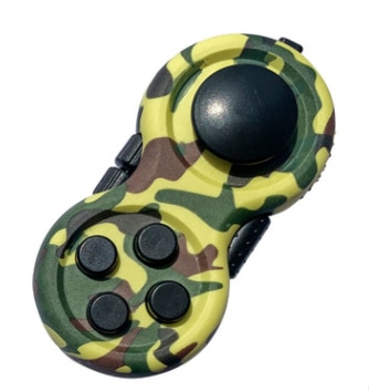 Camouflage-Green-Fidget-Pad-Controller-8-Features-for-Stress-Relief