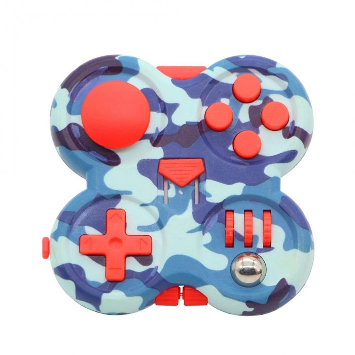 Fidget Pad Portable Controller Buttons Stress Relief Decompression Toy Gamepad Relieve The Stress Tool Easy Storage - Fidget Pad