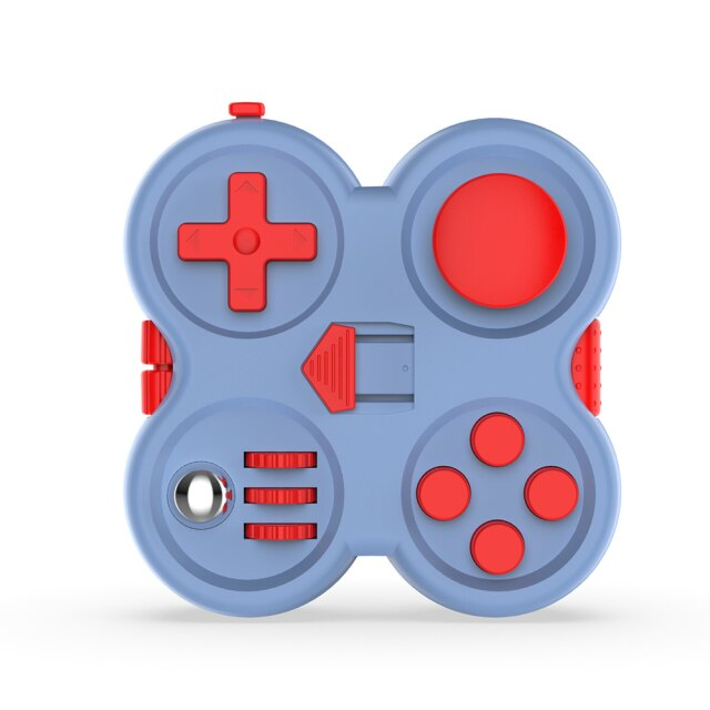 Game Fidget Pad Stress Reliever Squeeze Cube Fun Desk Handle Finger Toys Colorful Decompression Gift - Fidget Pad
