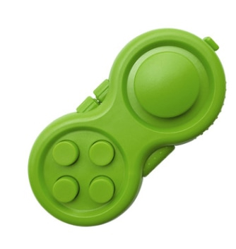 Green-Fidget-Pad-Controller-8-Features-for-Stress-Relief