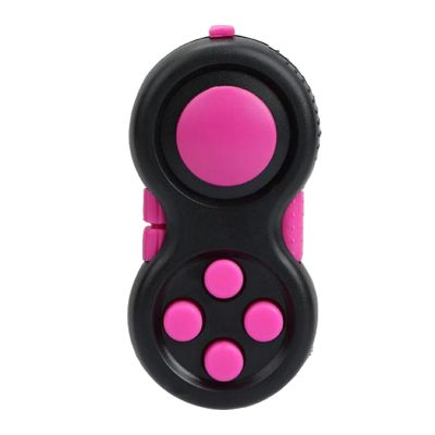 Pink-Black-Fidget-Pad-Controller-8-Features-for-Stress-Relief