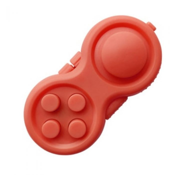 Red-Fidget-Pad-Controller-8-Features-for-Stress-Relief-2